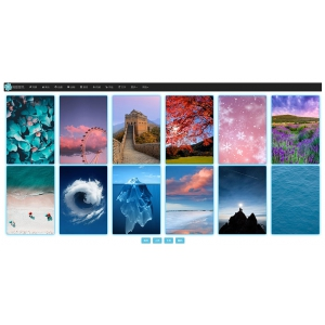 在线采集手机壁纸图片网站源码html版 自适应电脑手机端
